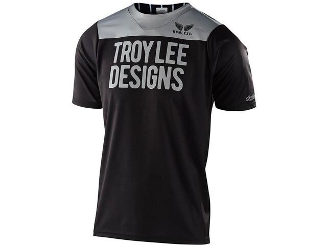 Troy Lee Designs Skyline Maglietta A Maniche Corte Ragazzi, pinstripe block black/grey